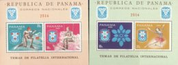 """1968-(MNH=**) Panama Foglietto Non Dentellato + Dentellato S.2v.""""Olimpiade Invernale Grenoble"""" - Inverno1968: Grenoble"""