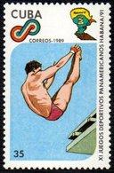 CUBA 1989 - 11th PANAMERICAN GAMES -DIVING - MINT - Tuffi