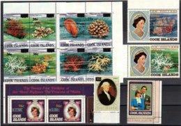 "1983-(MNH=**) Cook Isole S.30v.""Elisabetta II Overprinted""cat.Yvert Euro 130 - Cook"