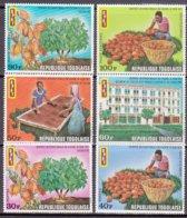 """1971-(MNH=**) Togo S.6v.""""Lavorazione Del Cacao"""" - Togo (1960-...)"""
