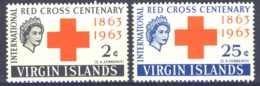 """1964-(MNH=**) British Virgin Islands S.2v.""""Red Cross"""" - British Virgin Islands"""