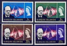 """1966-(MNH=**) British Virgin Islands S.4v.""""Churchill"""" - British Virgin Islands"""