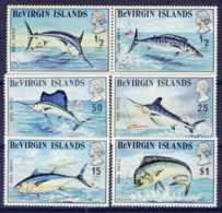 "1972-(MNH=**) British Virgin Islands S.6v.""Game Fish"" - British Virgin Islands"
