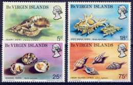 "1974-(MNH=**) British Virgin Islands S.4v.""Sea Shells"" - British Virgin Islands"