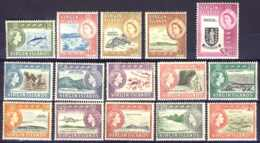"1964-(MNH=**) British Virgin Islands S.15v.""Queen Elisabeth II,definitives"" - British Virgin Islands"