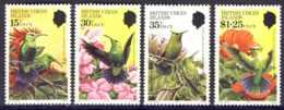 """1982-(MNH=**) British Virgin Islands S.4v.""""Hummingbirds On Local Flora"""" - British Virgin Islands"""