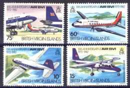 "1982-(MNH=**) British Virgin Islands S.4v.""10th Anniv. Of Air BVI (National Airline) - British Virgin Islands"