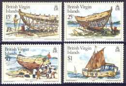 "1983-(MNH=**) British Virgin Islands S.4v""Boat Building"" - British Virgin Islands"