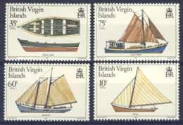"1984-(MNH=**) British Virgin Islands S.4v.""Local Boats"" - British Virgin Islands"