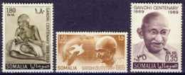 """1969-(MNH=**) Somalia S.3v.""""centenario Nascita Ghandi"""" - Somalia (1960-...)"""