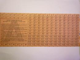 GP 2020 - 2298  BON De RATIONNEMENT  1942  -  FEUILLE De TICKETS  (Lettre A)   XXX - Non Classificati