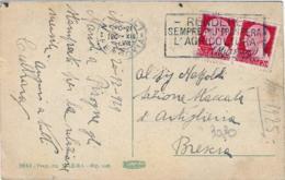 """1929-annullo Meccanico """"Rendere Sempre Piu' Prospera L'agricoltura (Mussolini)"""" Su Cartolina Napoli Il Panorama Viaggiat - Napoli (Naples)"""