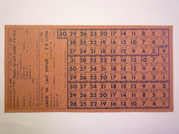GP 2020 - 2300  BON De RATIONNEMENT  1943  -  Carte De LAIT ENTIER  1/4 Litre   XXX - Non Classificati