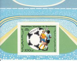 1986 Mauritania Mauritanie World Cup Football Mexico Souvenir Sheet MNH - Mauritania (1960-...)