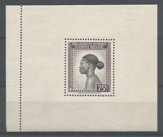 Congo Belge Bloc Message COB BL4 MH / * 1943 - Blocks & Kleinbögen