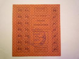 GP 2020 - 2304  BON De RATIONNEMENT  OCT 1941  -  VIANDE Et CHARCUTERIE   XXX - Non Classificati