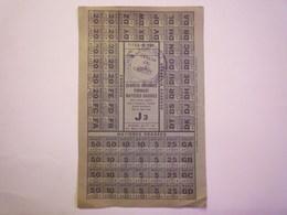 GP 2020 - 2306  BON De RATIONNEMENT  1941  -  Denrées Diverses FROMAGE  Matières Grasses   XXX - Non Classificati