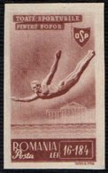 ROMANIA 1945 - SPORTS - DIVING - IMPERFORATED - MINT - Tuffi