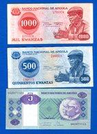 Angola  3  Billets - Angola