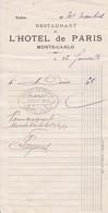 98000 Monaco Hotel De Paris   Pour Maubert 1913 - Autres