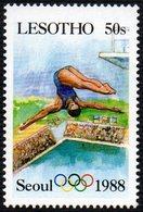LESOTHO 1987 - OLYMPIC GAMES SEOUL 1988  - DIVING - MINT - Tuffi