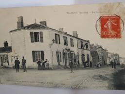 RARE Carte Postale Ancienne -Talmont St Hilaire Année 1908 - La Gendarmerie - Talmont Saint Hilaire