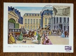 Carte Maximum 1963 - Hotel Des Postes De Paris - YT 1387 - Musée Postal - Maximum Cards