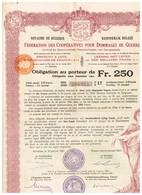 Titre Ancien - Royaume De Belgique - Fédération Des Dommages De Guerre 1921 4 % - Emprunt à Lots De 1 Milliard De Francs - Actions & Titres