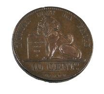 10 Centimes - Belgique - 1832 - Cuivre - TTB   - - 1831-1865: Leopold I