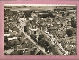 CPSM Grand Format - Le Neubourg -(Eure) - Vue Aérienne De L'église Vers Le Vieux Château - Le Neubourg