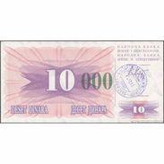 TWN - BOSNIA-HERZEGOVINA 53g - 10.000 Dinara 1993 (1992) Handstamp Date 24.12.1993 - SARAJEVO - Tall Green Zeroes AU - Bosnie-Herzegovine