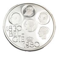 500 Francs - Belgique - 1980 - 150è Anniv. - Argent  - Sup - Légende Flamande - - 11. 500 Francs