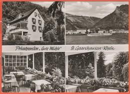 GERMANIA - GERMANY - Deutschland - ALLEMAGNE - Rheinland-Pfalz - Sankt Goarshausen - Pension Gute Mühle - Pieghevole Pub - Germania