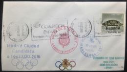 "Spain, Circulated Cover, ""Madrid 2016, Candidate City"", Special Postmark ""Casa De S.M. EL Rey"", 2008 - 2001-10 Lettres"