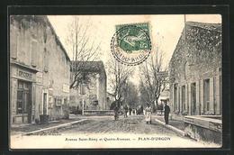 CPA Plan-d'Orgon, Avenue Saint-Remy Et Quatre-Avenues - France