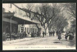 CPA Saint Remy, Boulevard Marceau, Route Des Antiques - France