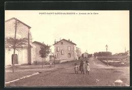 CPA Port-Saint-Louis-du-Rhone, Avenue De La Gare - Francia