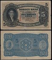 Norwegen - Norway 5 Kroner 1941 Pick 7c VG (5)    (21604 - Noruega