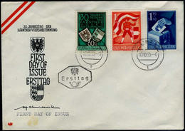 Austria 1950 FIRST DAY COVER... Michel #952-954,  Scott  B269-271 - 1945-60 Briefe U. Dokumente