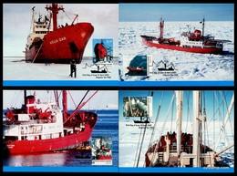 AUSTRALIAN ANTARCTIC TERRITORY • 2003 • ANTARCTIC SUPPLY SHIPS • MAXIMUM CARD SET - Maximum Cards