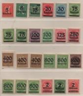 Deutsches Reich 1923 Inflation Siehe Bild 24 Marken Postfrisch; German Realm MNH - Unused Stamps