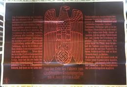 Germany 1939 ,Kassel Meeting For Imperial Great Warriors June 4 1939, Hitler Speech, RRR,100% Original Poster - 1939-45