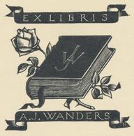 Ex Libris A.J. Wanders - Pam Georg Rueter (1906-1998) - Ex-libris