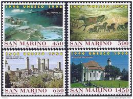 San Marino 1996 - Mi 1678/81 - YT 1471/74 ( Fiftieth Anniversary Of The UNESCO (  ) MNH** Complete Issu - Nuovi