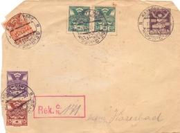 CZECHOSLOVAKIA REGISTRD MAIL SPECIAL SHOULDER  1921  (FEB200291) - Cecoslovacchia