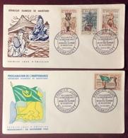 AFMAU2-1 Mauritanie Indépendance République Islamique + Puits Récoltes FDC Premier Jour 28/11/1960 Lot 2 Lettre - Mauritanie (1960-...)