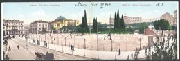 Greece DOUBLE CARD Athens Constitution Square 1904 UNDIVIDED Eleytheroudakis  Edition - Griechenland