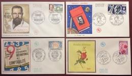 0338-1 Ramon 1527 Esnault Pelterie 1526 Comptabilité 1529 Floralies 1528 FDC Premier Jour 1967 Lot 4 Lettre - FDC