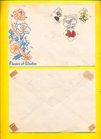 BHUTAN FDC 1967 Flowers Of Bhutan, 3 Stamps First Day Of Issue BHOUTAN - Bhoutan
