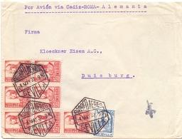 ESPANA CORREO AEREO SEVILLA FANTASTIC COVER  1937  (FEB200299) - 1931-50 Storia Postale
